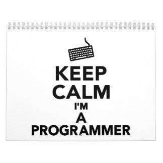 Keep calm I'm a Programmer Calendar