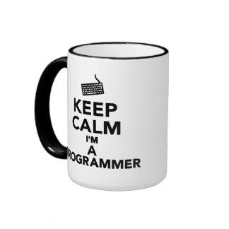 Keep calm I'm a Programmer Coffee Mugs