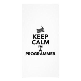 Keep calm I'm a Programmer Photo Card Template