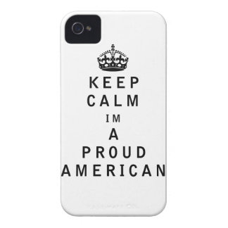Keep Calm Im a Proud American iPhone 4 Cover