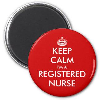 Keep calm i'm a registered nurse fridge magnet