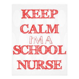keep calm i'm a school nurse office flyer