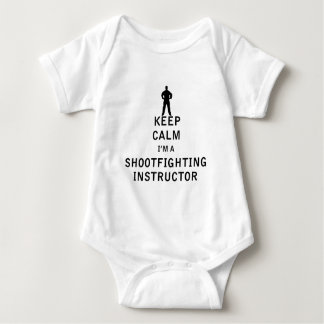 Keep Calm I'm a Shootfighting Instructor Baby Bodysuit