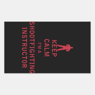 Keep Calm I'm a Shootfighting Instructor Rectangular Sticker
