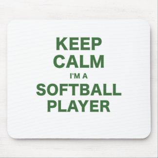 Keep Calm Im a Softball Player Mouse Pad