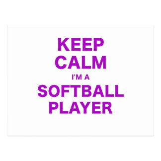 Keep Calm Im a Softball Player Postcard