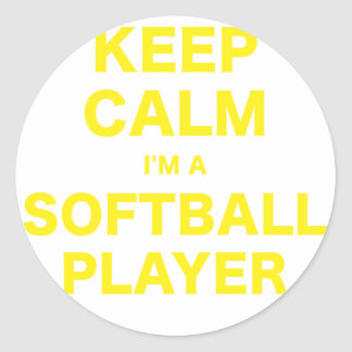 Keep Calm Im a Softball Player Sticker