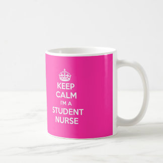 KEEP CALM I'M A STUDENT NURSE PINK NURSING GIFT COFFEE MUG