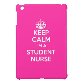 KEEP CALM I'M A STUDENT NURSE PINK NURSING GIFT iPad MINI CASES