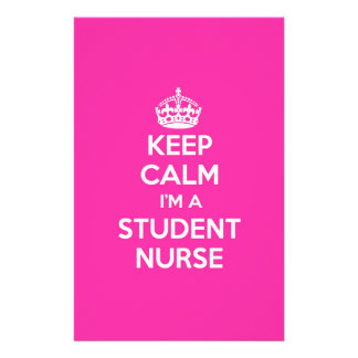 KEEP CALM I'M A STUDENT NURSE PINK NURSING GIFT STATIONERY