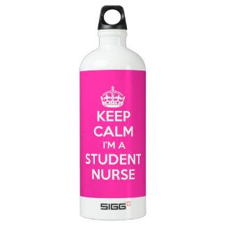 KEEP CALM I'M A STUDENT NURSE PINK NURSING WATER BOTTLE