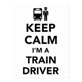 Keep calm I'm a train driver Postcard