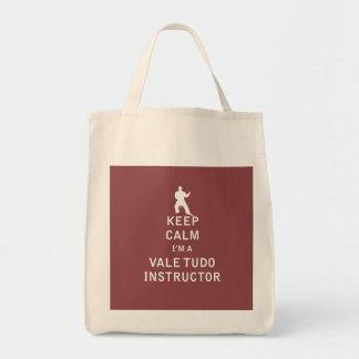 Keep Calm I'm a Vale Tudo Instructor Bags