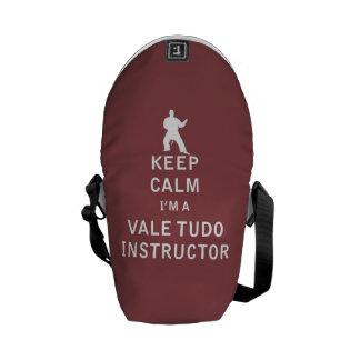 Keep Calm I'm a Vale Tudo Instructor Messenger Bag