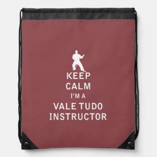 Keep Calm I'm a Vale Tudo Instructor Cinch Bag