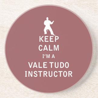 Keep Calm I'm a Vale Tudo Instructor Sandstone Coaster