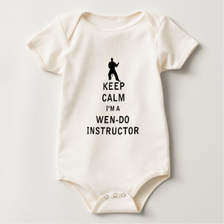 Keep Calm I'm a Wen-Do Instructor Baby Bodysuit