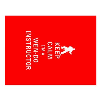 Keep Calm I'm a Wen-Do Instructor Postcard