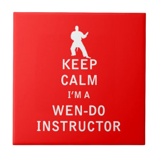 Keep Calm I'm a Wen-Do Instructor Small Square Tile