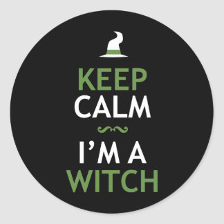 Keep Calm - I'm a Witch Classic Round Sticker