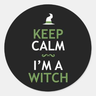 Keep Calm - I'm a Witch Round Sticker