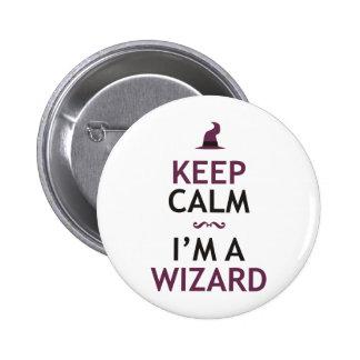 Keep Calm I'm A Wizard Buttons
