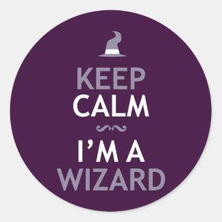 Keep Calm I'm A Wizard Classic Round Sticker