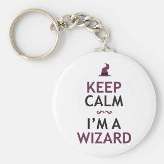 Keep Calm I'm A Wizard Keychain