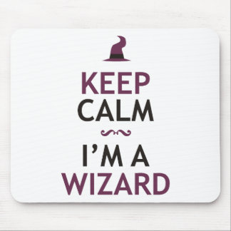 Keep Calm I'm A Wizard Mouse Pad