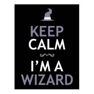 Keep Calm I'm A Wizard Postcard