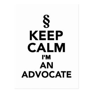 Keep calm I'm an advocat Postcard