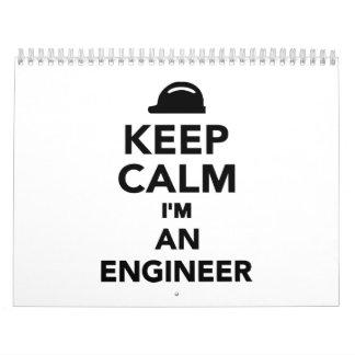 Keep calm I'm an Engineer Calendar