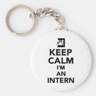 Keep calm I'm an Intern Keychains