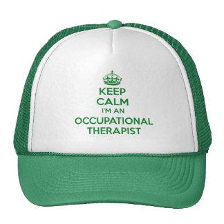 KEEP CALM I'M AN OCCUPATIONAL THERAPIST OT GIFT MESH HATS