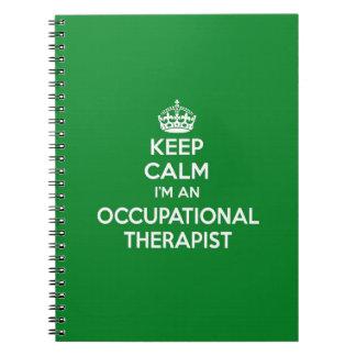KEEP CALM I'M AN OCCUPATIONAL THERAPIST OT GIFT SPIRAL NOTEBOOKS