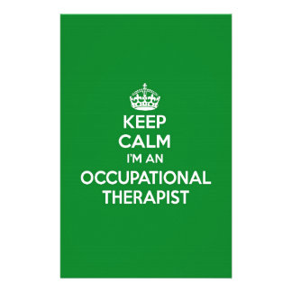 KEEP CALM I'M AN OCCUPATIONAL THERAPIST OT GIFT STATIONERY