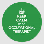 KEEP CALM I'M AN OCCUPATIONAL THERAPIST OT GIFT STICKERS
