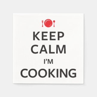 Keep Calm I'm Cooking Standard Cocktail Napkin