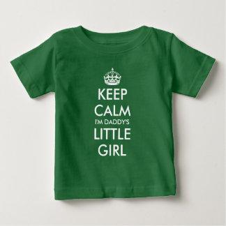 Keep calm i'm daddy's little girl green baby shirt