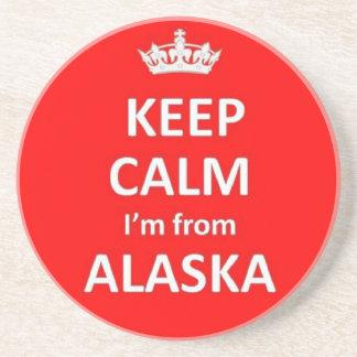 Keep calm I'm from Alaska Drink Coaster