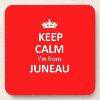 Keep calm I'm from Juneau Beverage Coasters