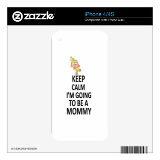 Keep Calm I'm Going To Be A Mommy Decals For iPhone 4