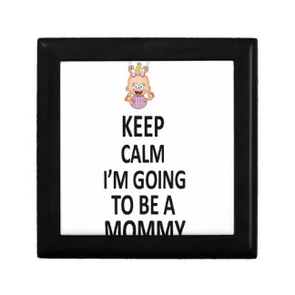 Keep Calm I'm Going To Be A Mommy Gift Box