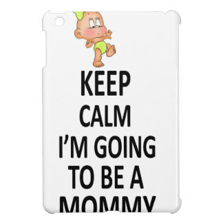 Keep Calm I'm Going To Be A Mommy iPad Mini Cover
