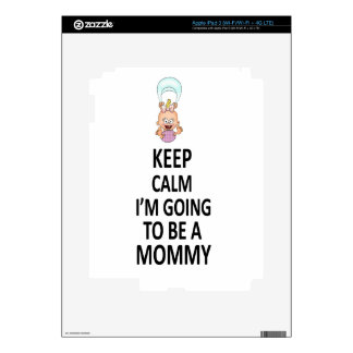 Keep Calm I'm Going To Be A Mommy Skin For iPad 3