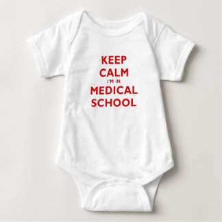 Keep Calm Im in Medical School Baby Bodysuit