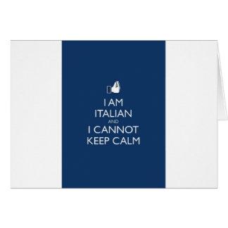 Keep Calm Im Itaian Card