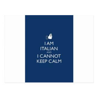 Keep Calm Im Itaian Postcard