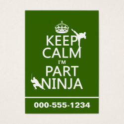Chubby Business Cards (100-pack) with Keep Calm I'm Part Ninja design