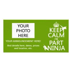8' x 4' Photo Card with Keep Calm I'm Part Ninja design